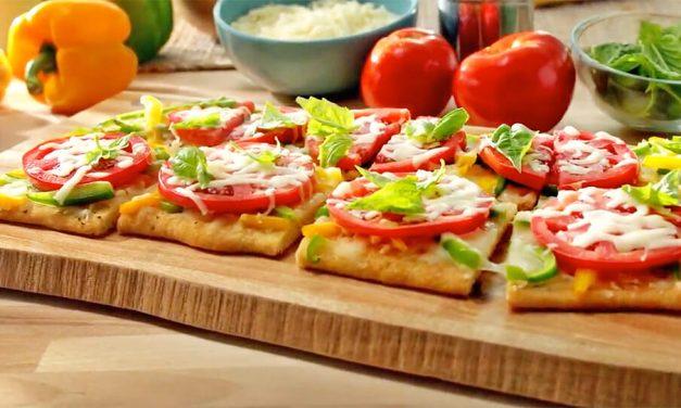 Receta de flatbread con tomates y pimientos dulces de La Florida