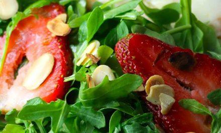 Receta de ensalada de arúgulas, moras y cítricos de La Florida