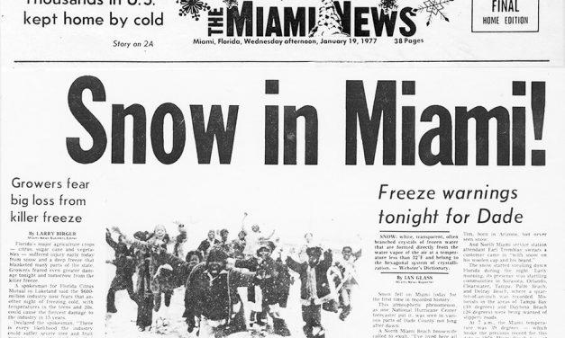 El día que nevó en Miami