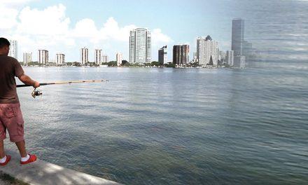 De pesca en Miami con buenos amigos